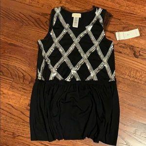 New! Guess Black sequin top